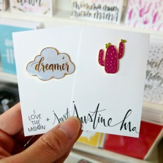 "This ""Dreamer"" pin was a collaboration with I Love the Moon, and it's adorable."