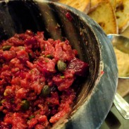 This beef tartare was not typical, but it was so good.