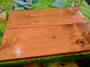 Waiting for my stained wood to dry.