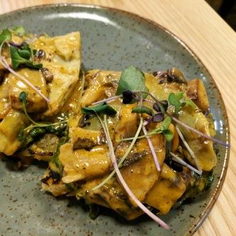 Mushroom and Artichoke Tartine