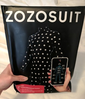The unopened ZOZOSUIT package.