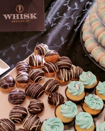 Whisk Dessert Co. had a few different options including mini cupcakes, cream puffs and macarons.