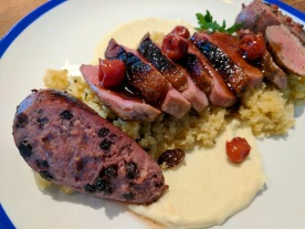 Duck Duck Couscous makes duck breast and sausage the stars of the show.