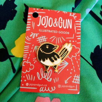 City's unofficial animal, the Magpie. Pin from JOJO & GUN.