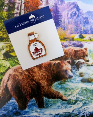 La Petite Watson's super cute maple syrup pin.