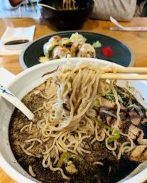 Springy ramen noodles